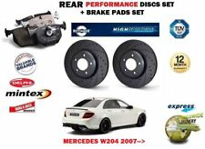 pour Mercedes W204 Classe C AMG 2007- > arrière Performance Kit Disque frein +