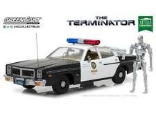 GREENLIGHT 19042 DODGE MONACO METRO POLICE + T-800 model THE TERMINATOR 1:18