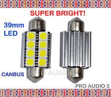 2x 39 millimetri Bianco CANBUS 8 SMD LED Lampadine-Errore Libero Numero Targa O Interni BMW