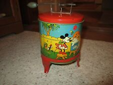 1930's Mickey Mouse Tin Toy Washing Machine Ohio Art The One Without Wringer!!!