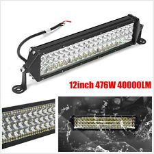 "12"" 476W 40000LM LED Light Bar Work SPOT FLOOD Combo Beam 4WD ATV SUV Offroad"