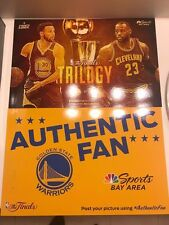 Golden State Warriors 2017 NBA Finals Trilogy Authentic Fan Cheer Card Curry SGA