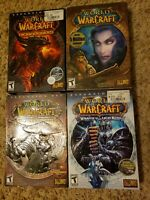 *Lot of 4* Warcraft PC computer games - Original, Mists, Wrath, Cataclysm, etc