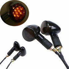 Black Motorcycle Turn Signals Blinker Amber Indicator Light Universal 10mm Bolt