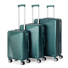 20'' 24'' 28''Travel Spinner Luggage Set Bag ABS Trolley Carry On Suitcase GREEN