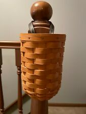 2001 Longaberger Small Gatehouse Basket with Plastic Protector