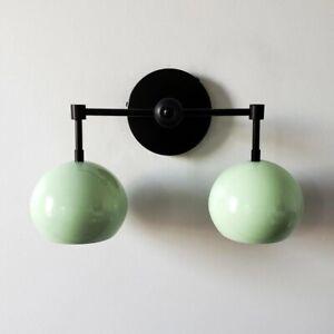 Wall Sconce Mid Century Eyeball Shaped Shade Light Modern Brass Vanity Fixture