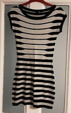 Jane Norman Ladies Stripey Fitted Stretch Bodycon Dress size 10