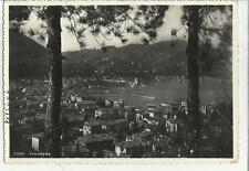 vecchia cartolina di como bianco e nero 1954