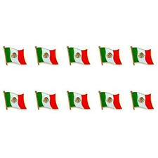 "LOT OF 10 MEXICO FLAG LAPEL PIN 0.5"" Mexican NEW Small Pinback Hat Tie Badge"