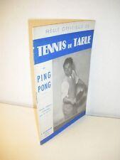 RÉGLE OFFICIELLE DU TENNIS DE TABLE ou Ping Pong FFTT 1951 Bornemann