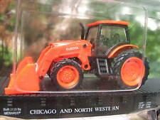 Menards CNW 279-3186 Kubota Front End Loader Tractor on Flat Car # 11322 MINT