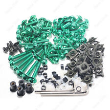 Green Fairing Bolt Kit body screws Clip For Kawasaki ZX10R 2004-2005 ZX10R 06-07