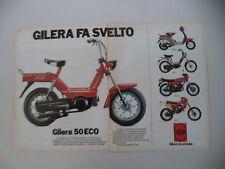 advertising Pubblicità 1983 GILERA ECO 50/GSA/TG2 125/CBA/125 E1