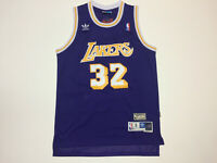 Magic Johnson #32 LA Los angeles Lakers Purple Throwback Jersey Mens