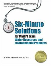Six-Minute Solutions for Civil PE Exam Water Resources and Environmental Problem