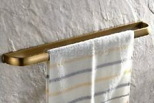 Retro Antique Brass Bathroom Accessory Single Towel Rack Bar Wall Mount qba174