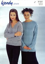 "Wendy Aran Knitting Pattern Book #257 Designs for Women 32-42"" & Children 1-11yr"