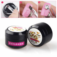 Nail Art DIY Adhesives UV Gel Glue Super Sticky Gems Diamond Rhinestones Decor--