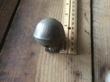 Antique Brass Country Bell, Sliegh Bell, Ornately Inscribed No 7, Rustic