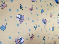 Yellow alien print warterproof pul (cloth diaper quality)