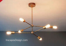 Metà del secolo moderno ATOMIC SPUTNIK OTTONE Chandelier Light Fixture 6 braccia LAMPADINA NUOVO