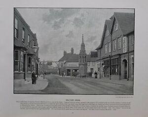 1896 London Aufdruck + Text Waltham Kreuz