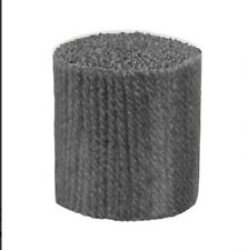 "Latch Hook Yarn - Graphite  400 strands 3ply 2.5"" long Use on 4.5hpi canvas"