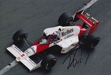 Alain Prost Hand Signed 12x8 Photo Marlboro McLaren F1 8.