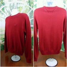 TOMMY HILFIGER Red Flag Logo Long Sleeve Crewneck Sweater MEDIUM