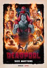 "DEADPOOL Original Promo Movie Poster 9.5""x13"" IMAX 2015 AMC Ryan Reynolds MARVEL"