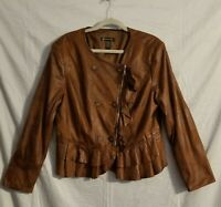 Women's INC International Concept Jacket Coat Size X Large  leather look NWO Tag