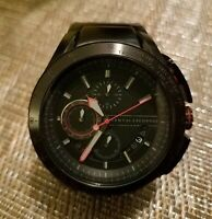 MENS ARMANI EXCHANGE A|X (AX1404) BLACK RED ACCENT STEEL WATCH