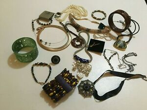 Lot of Quality Costume Jewellery  M&S Next - Wallis   Cuffs  Chokers Rings