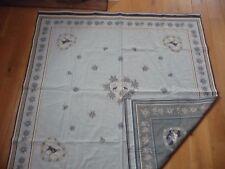 Nappe réversible tapis de table épais jacquard 134 x 138 motifs montagne