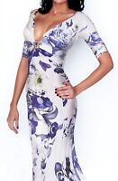 SALE! Gorgeous! Roberto Cavalli ITALY floral dress size 42-44 $459.00 OFF!