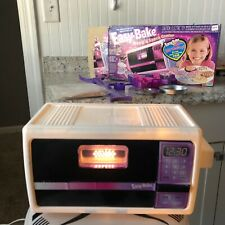 2001 VINTAGE HASBRO EASY BAKE OVEN AND SNACK CENTER W BOX, ACCESSORIES, PANS