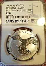 2016 1 oz Canadian Silver Peregrine Falcon Reverse Proof Coin NGC PF70 ER