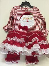 Santa Dress Girls 6 Months By Rare Edition Red White Ruffle Leggings Christmas