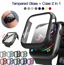 iWatch TPU protector Cover Case +Glass For Apple Watch Series SE/6/5/4 40/44MM