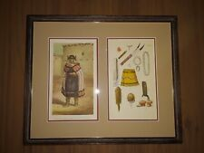 Antique 1860's C.F. Kell Lithograph Native American Advertising Historical Print