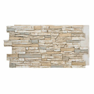 Faux Stone Wall Panels - Deep Stacked - ALPINE