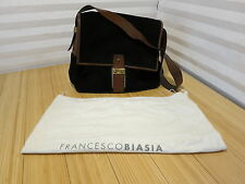 Francesco Biasia Suede Leather Black & Brown Purse Handbag