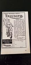 Triumph Motorcycle Advertisement - USA - 1960s