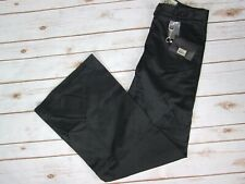 07441807afdf Da Nang 4 Black Wide Leg Pants Surplus Indochine Cotton Blend Stretch  Casual New