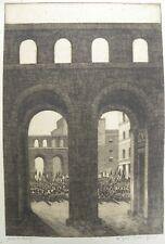 Roberto IRAS BALDESSARI (Innsbruck 1894-Roma 1965) incisione cm 61x46 anni '30