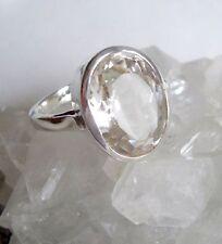 Ring mit Kristall - Bergkristall, 925er Silber, Gr. 17,5