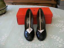 New Vintage Charles Jourdan Vintage Size 6 1/2 Black Patent Open Toe  shoes