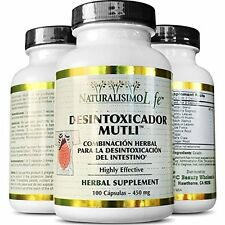 Detox Capsules desintoxicador 100 caps weight loss Body cleansing Detox colon