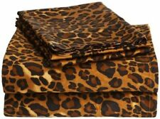 Luxurious Bedding Set USA Size Leopard Print 100% Cotton 800-TC Extra Drop~